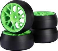 Készre szerelt közúti kerék Drift Y-küllős, zöld 1 db, 1:10, Reely Reely