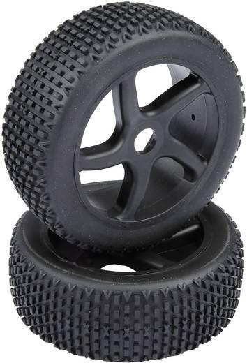 Reely 1:8 Buggy készre szerelt kerék Multipin 5 küllős, fekete, 1 pár
