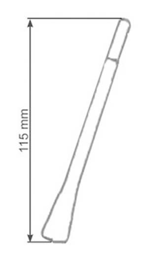 Autórádió antenna 11,5 cm, fekete, AIV