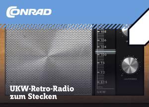 Retro URH rádió építőkészlet, Tru Components 10196 Conrad Components