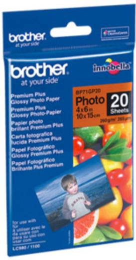 Fénykép papír Brother BP71GP20 10 x 15 cm 260 gm² 20 lap Magasfényű