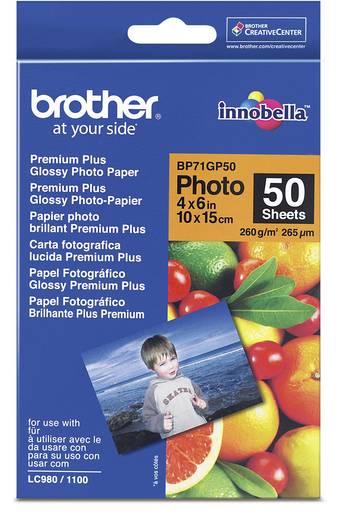 Fénykép papír Brother BP71GP50 10 x 15 cm 260 gm² 50 lap Magasfényű