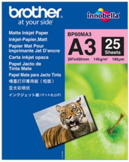 Tintasugaras nyomtatópapír Brother BP60MA3 DIN A3 145 gm² 25 lap Fehér