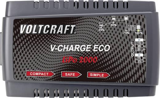Intelligens, automata modell akkutöltő, LiPo akkutöltő 230V 2A VOLTCRAFT V-Charge Eco LiPo 2000 LiPo