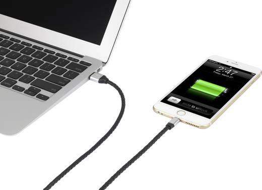Apple töltőkábel iPhone iPad iPod adatkábel [1x USB dugó A - 1x Apple Lightning csatlakozó] 1m Renkforce 1409673