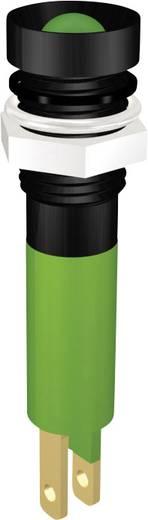 Beépíthető LED-es villogó, foglalattal, süllyesztett fejű zöld színben 24V/17mA Signal Construct SWUU08724