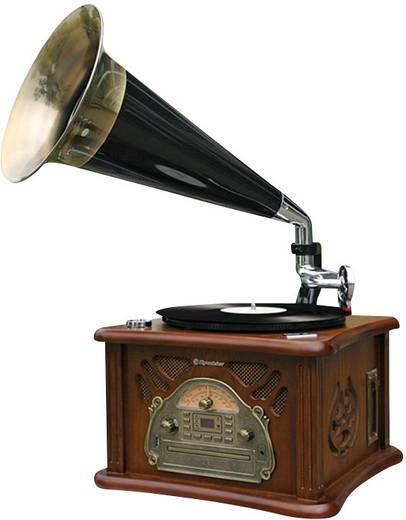 USB-s gramofon beépített digitalizálóval, asztali retro rádió, nosztalgia rádió, CD lejátszóval Roadstar HIF-1800TUMPK
