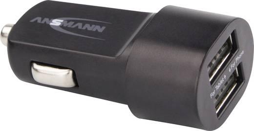 Szivargyújtós USB-s töltő, max. 3100 mA, 2 x USB alj, Ansmann Duo USB-Car-Charger 3.1A