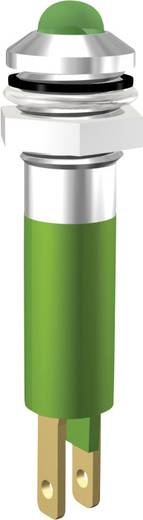 Beépíthető LED-es villogó, foglalattal, zöld színben 24V/17mA Signal Construct SWQU08724