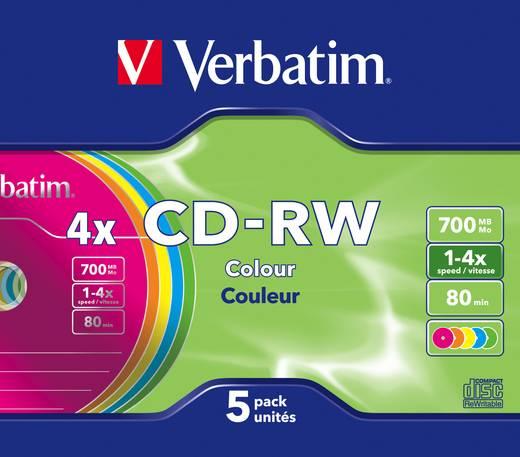 Írható CD-RW 700 MB Verbatim 43133