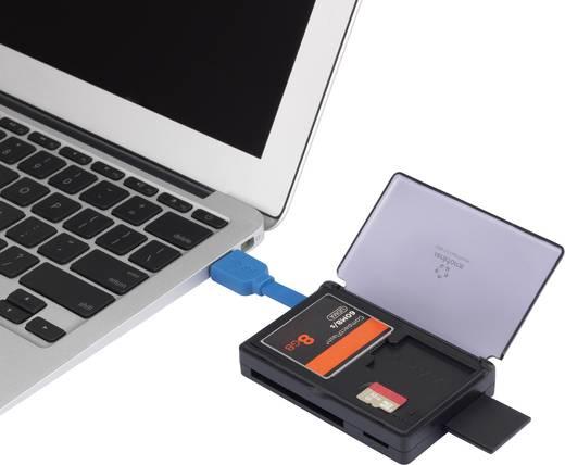 Külső kártyaolvasó, Renkforce CR41e-BOX USB 3.0, fekete