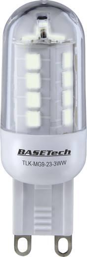 LED izzó 59mm 230V G9, 3W=25W, melegfehér, A+, 3 db, Basetech