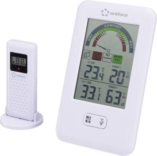 Vezeték nélküli hőmérő és páratartalom mérő, renkforce DM-7511