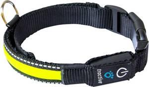 LED-es kutyanyakörv, sárga, L, Tractive tractive