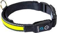 LED-es kutyanyakörv, sárga, M, Tractive tractive