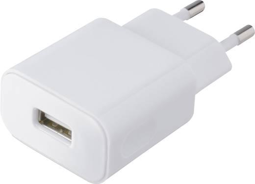 Hálózati USB töltő adapter 115-230V/AC 1000mA fehér színű VOLTCRAFT SPS-1000WH USB