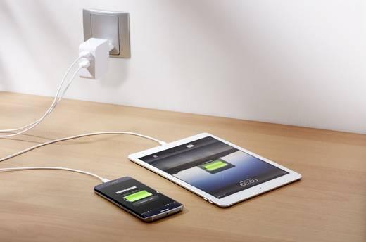Hálózati USB töltő adapter 2 USB aljzattal 100-240V/AC 5V/DC max. 4800mA Voltcraft SPS-2400/2+WH