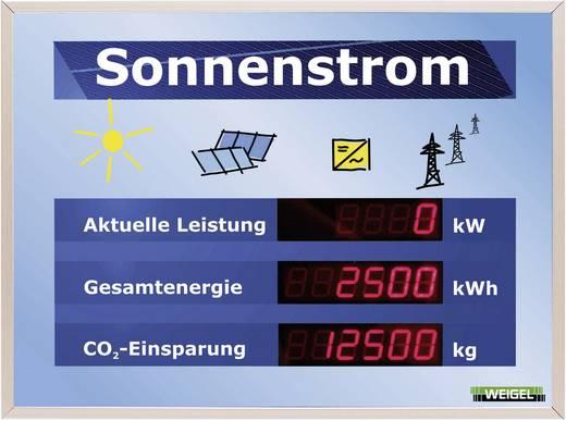 Szolárcella töltéskijelző, LED kijelző műszer Weigel WGA330-19-41