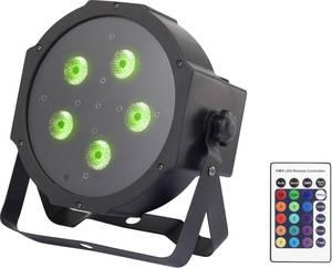LED-es PAR reflektor, diszkófény távirányítóval 5 x 9 W 12 féle színben Renkforce Powerpar GM307 Renkforce
