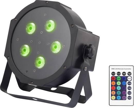 LED-es PAR reflektor, diszkófény távirányítóval 5 x 9 W 12 féle színben Renkforce Powerpar GM307