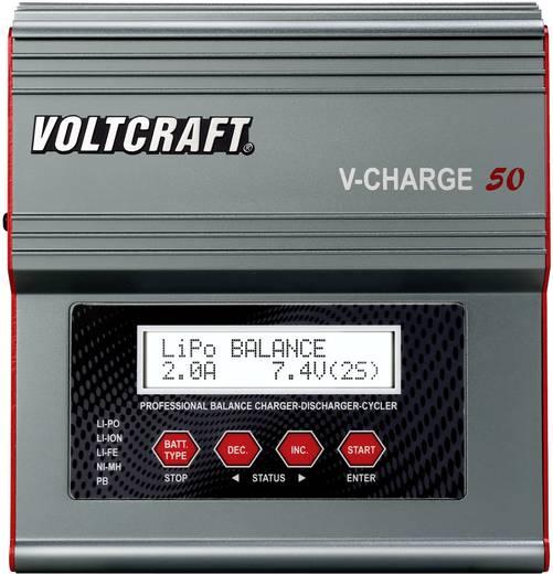 Multifunkciós modell akku töltő, 12V/230V 7A, Voltcraft V-Charge 50