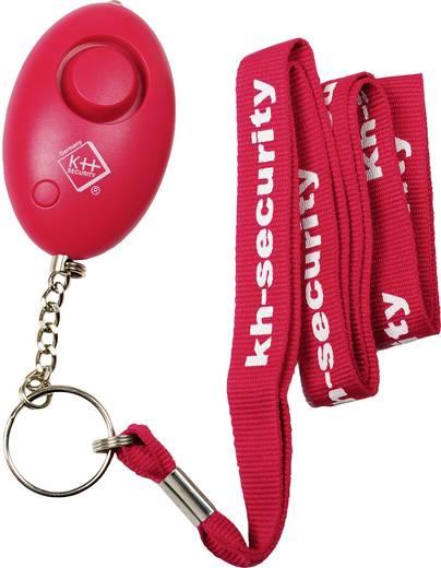 Kulcstartós pánikriasztó, táskariasztó, LED világítással, rózsaszín, kh-security