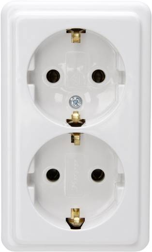 Hálózati elosztó szerelhető 2 részes, kábel nélkül, fehér, Kopp 120101001