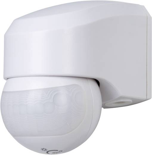 Falra szerelhető PIR mozgásérzékelő, relés, fehér, IP44, 180°, Kopp 823802014