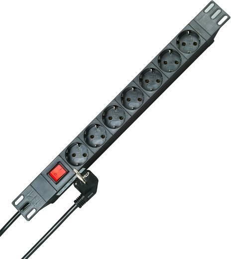 Hálózati elosztó 19 colos rack szekrénybe, 7 részes, fekete, Kopp 930705011
