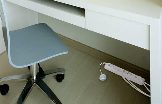 Hálózati elosztó lábkapcsolóval, 5 részes, fehér, Basetech