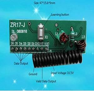Rádiófrekvenciás, 433MHz-es RF vevő modul 5 V/DC Tru Components ZR17-J Conrad Components
