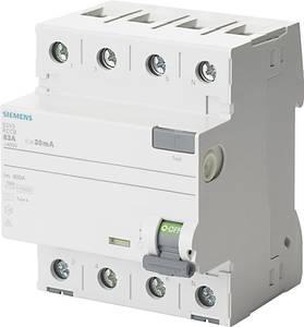 Siemens 5SV3344-6KK01 FI védőkapcsoló A 4 pólusú 40 A 0.03 A 400 V Siemens
