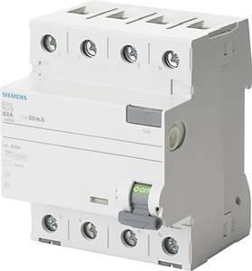 Siemens 5SV3344-6KK12 FI védőkapcsoló A 4 pólusú 40 A 0.03 A 400 V Siemens