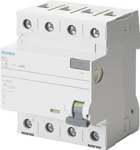 Siemens 5SV3344-6KL FI védőkapcsoló 4 pólusú 40 A 0.03 A 400 V Siemens