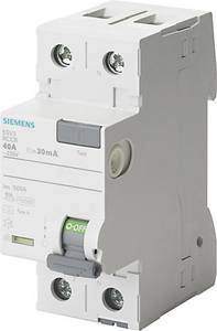 Siemens 5SV3412-6 FI védőkapcsoló 2 pólusú 25 A 0.1 A 230 V Siemens