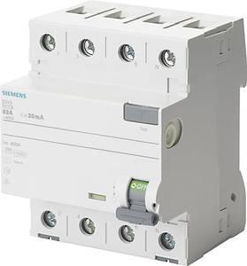 Siemens 5SV3646-6 FI védőkapcsoló 4 pólusú 63 A 0.3 A 400 V Siemens