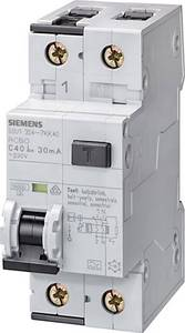 Siemens 5SU1154-6KK06 FI védőkapcsoló 2 pólusú 6 A 0.01 A 230 V Siemens