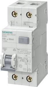 Siemens 5SU1356-7KK40 FI védőkapcsoló 2 pólusú 40 A 0.03 A 230 V Siemens