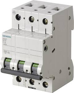 Siemens 5SL6363-7 Vezeték védőkapcsoló 3 pólusú 63 A 400 V Siemens