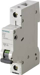 Siemens 5SL6106-7 Vezeték védőkapcsoló 1 pólusú 6 A 230 V, 400 V Siemens