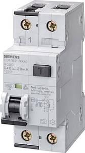 Siemens 5SU1154-6KK16 FI védőkapcsoló 2 pólusú 16 A 0.01 A 230 V Siemens