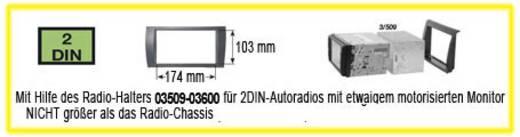 Autórádió beépítő keret, 2 DIN, Phonocar