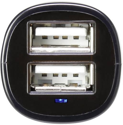 Kettős szivargyújtós USB töltőadapter, max. 2,4 A, VOLTCRAFT VC12/24 2,4A