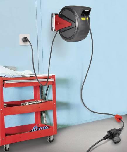 Falra szerelhető kábeldob védőérintkezős dugóval, 20 m, Toolcraft