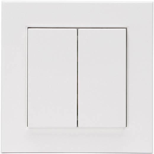 Vezeték nélküli fali kapcsoló, 2/4, tiszta fehér, Kopp FreeControl® HK 07823202023