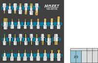 """Hazet 163-407/35 Belső hatlap, Sokszög (XZN), Belső kehely profil, TORX Dugókulcs bit betét készlet 35 részes 1/2"""" Hazet"""