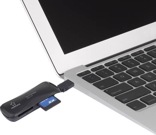 Külső memóriakártya olvasó USB-C USB 2.0, fekete, renkforce CA5