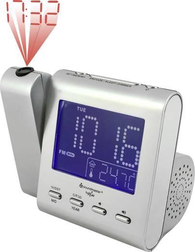 Digitális ébresztőóra, kivetítős rádiós ébresztőóra LED-es kijelzővel SoundMaster UR135SI