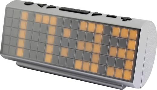 Nagykijelzős digitális ébresztőóra, rádiós ébresztőóra, ezüst színű SoundMaster UR200SI