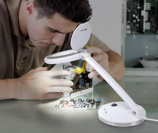 SMD LED-es asztali nagyítós lámpa, nagyítás: 1,75 x, lencse Ø: 100 mm, TOOLCRAFT 1425137